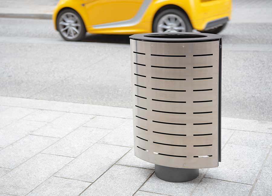 Abfallbehälter - Marguerite inox