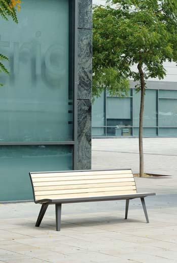 Area - Bank mit Rückenlehne - Montréal bois